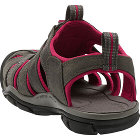 Keen Clearwater CNX Leather Sandaalit Naiset, magnet/sangria